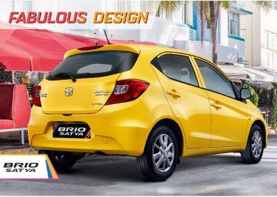 All New Honda Brio tampil dengan desain yang fabolous