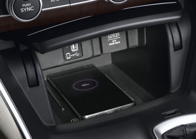 Wireless Charger Console with USB Port