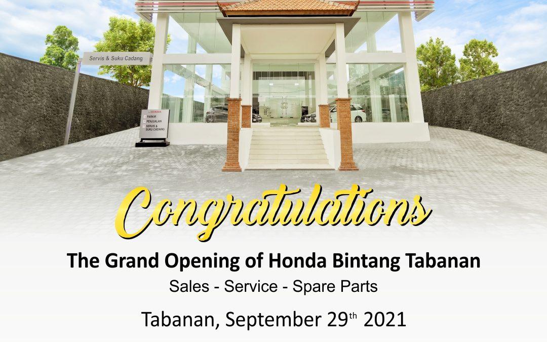 The Grand Opening Of Honda Bintang Tabanan